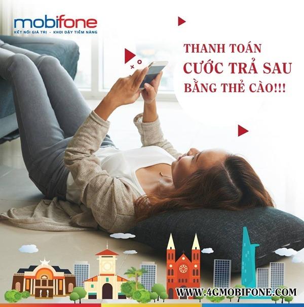Cách nạp tiền Mobifone trả sau bằng điện thoại