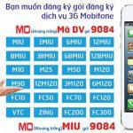 Bảng giá gói cước 3G Mobifone tốc độ cao