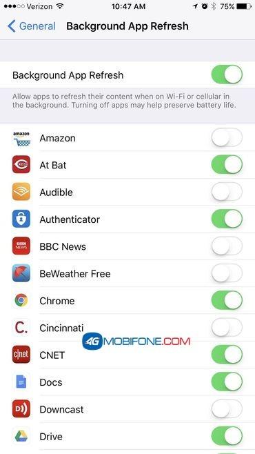 Cách Tiết kiệm Data 3G/4G Mobifone cho iPhone