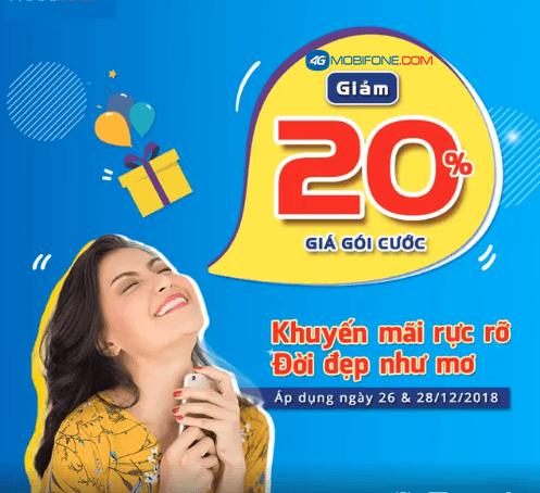 Mobifoen giảm 20% cước đăng ký 3G/4G