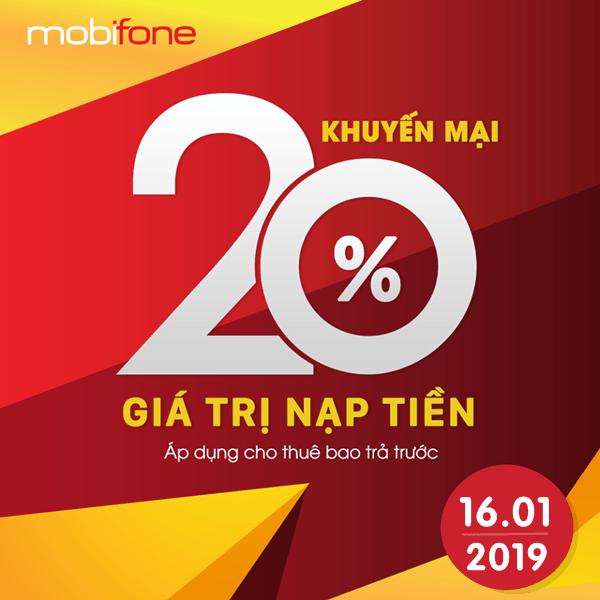Mobifone khuyến mãi ngày 16/1/2019