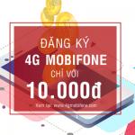 Còn 10K đăng ký gói cước 4G Mobifone nào