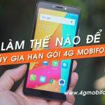 Hủy gia hạn gói cước 4G Mobifone