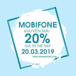 Mobifone khuyến mãi nạp thẻ Ngày Vàng 20/3/2019 trên toàn quốc