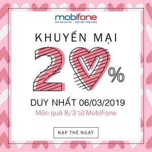 Mobifone khuyến mãi Ngày Vàng 6/3/2019