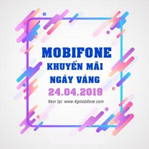 Mobifone khuyến mãi ngày 24/4/2019 tặng 20% thẻ nạp toàn quốc