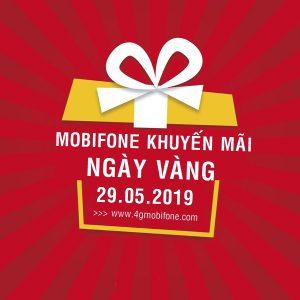 Mobifone khuyến mãi ngày 29/5/2019 tặng 20% thẻ nạp toàn quốc