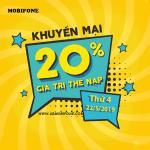 Mobifone khuyến mãi ngày 22/5/2019 tặng 20% giá trị thẻ nạp