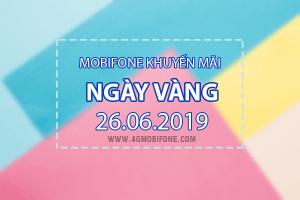 Mobifone khuyến mãi ngày 26/6/2019 tăng 20% thẻ nạp