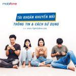 các loại tài khoản khuyến mãi Mobifone