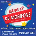 Đăng ký gói cước D5 Mobifone 5k
