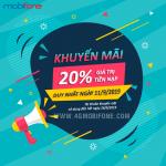 Mobifone khuyến mãi ngày 11/9/2019 tặng 20% thẻ nạp