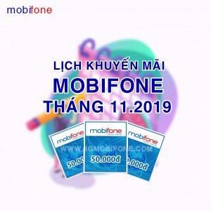 Lịch khuyến mãi Mobifone tháng 11/2019
