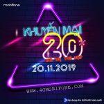 Mobifone khuyến mãi ngày 20/11/2019