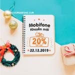 Mobifone khuyến mãi ngày 22/12/2019 tặng 20% thẻ nạp