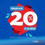Mobifone khuyến mãi ngày 4/12/2019 tặng 20% thẻ nạp