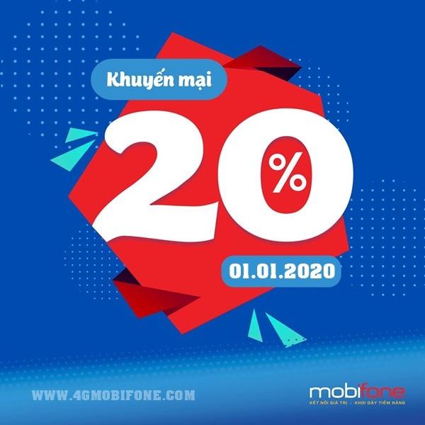 Mobifone khuyến mãi ngày 1/1/2020