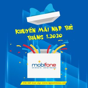 Lịch khuyến mãi Mobifone trả trước tháng 1/2020