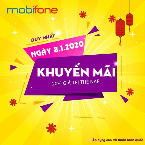 Mobifone khuyến mãi ngày 8/1/2020