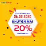Mobifone khuyến mãi ngày 26/2/2020